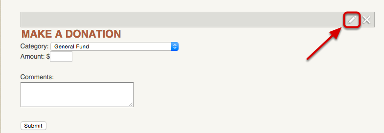 """Add/Edit """"E-Commerce: Donation"""" module"""