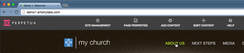 Go to the parent page for the child page that you want to remove from the navigation menu.