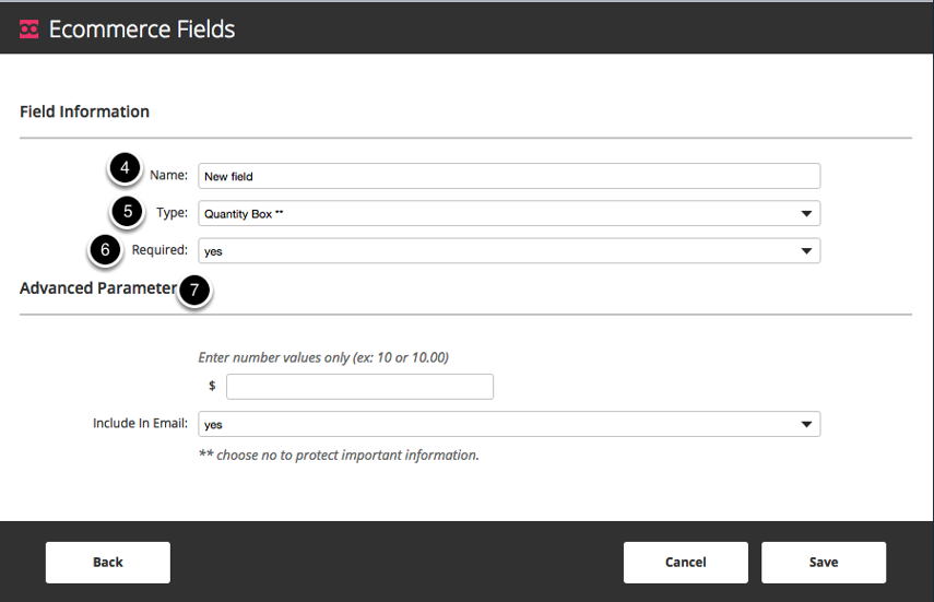 Enter the Name of the payment field.