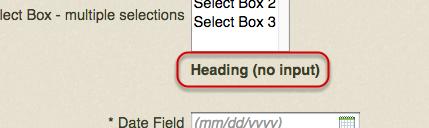 Heading (no input)