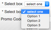 Select box
