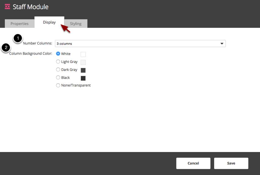 Editing Display Settings